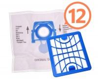 12 ks originálnych vreciek Zelmer modrej farby ZVCA100B s HEPA filtrom