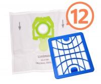 12 ks originálnych vreciek Zelmer v zelenej farbe ZVCA200B s HEPA filtrom