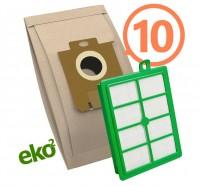 1SBAG papierové vrecká 10 ks + HEPA filter do vysávačov Electrolux a Philips