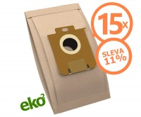 1SBAG papierové vrecká do vysávačov Electrolux a Philips 3,6 l - 15 ks