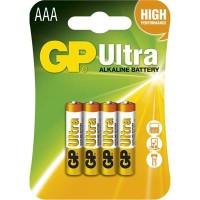 Alkalické batérie GP Ultra LR03 (AAA), 4 ks v balení