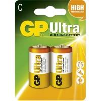 Alkalické batérie GP Ultra LR14 (C), 2 ks v balení