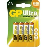 Alkalické batérie GP Ultra LR6 (AA), 4 ks v balení