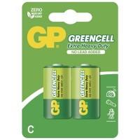 Zinkochloridové batérie GP Greencell R14 (C), 2 ks v balení