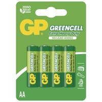 Zinkochloridové batérie GP Greencell R6 (AA), 4 ks v balení